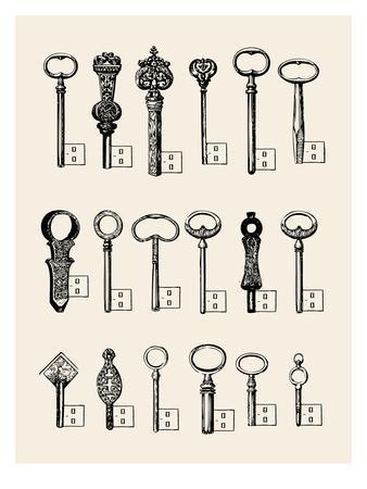 Usb Keys-Florent Bodart-Framed Art Print