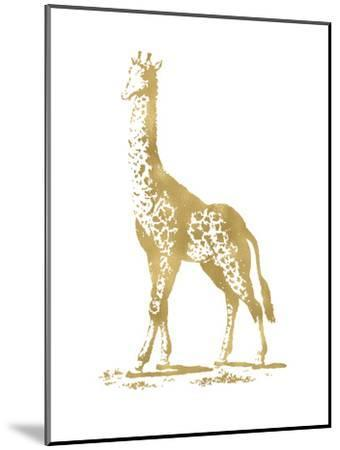 Giraffe Golden White-Amy Brinkman-Mounted Art Print