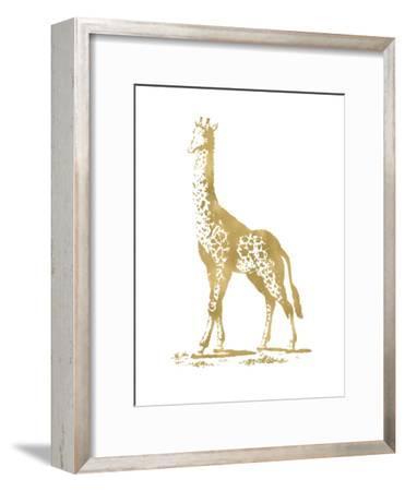 Giraffe Golden White-Amy Brinkman-Framed Art Print