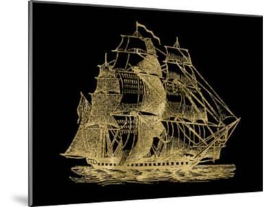Ship 3 Golden Black-Amy Brinkman-Mounted Art Print