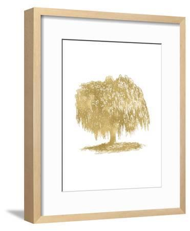 Weeping Willow Tree Golden White-Amy Brinkman-Framed Art Print