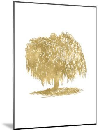 Weeping Willow Tree Golden White-Amy Brinkman-Mounted Art Print