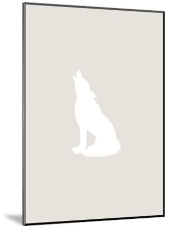 Beige White Wolf-Jetty Printables-Mounted Art Print