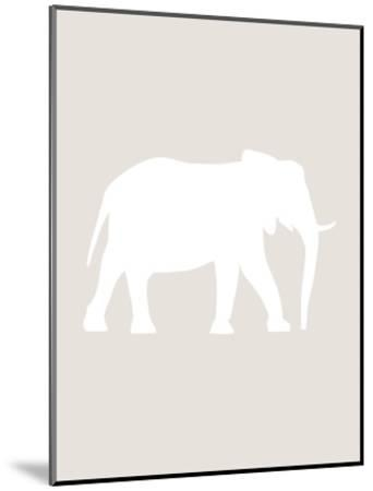 Beige White Elephant-Jetty Printables-Mounted Art Print