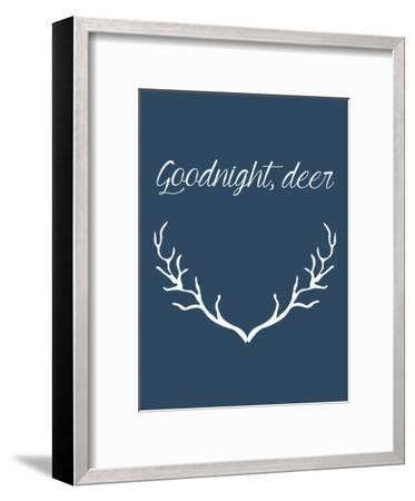 Goodnight Deer-Jetty Printables-Framed Art Print