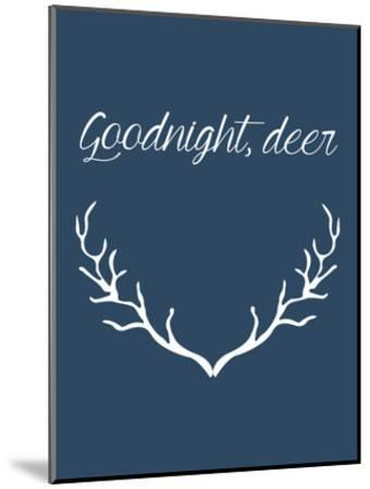 Goodnight Deer-Jetty Printables-Mounted Art Print