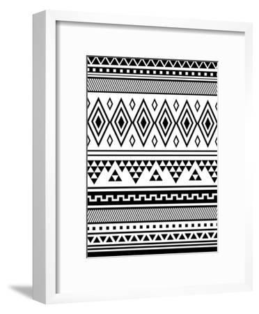 Black Tribal-Jetty Printables-Framed Art Print