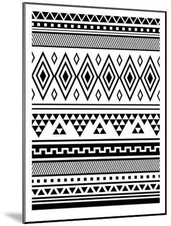 Black Tribal-Jetty Printables-Mounted Art Print