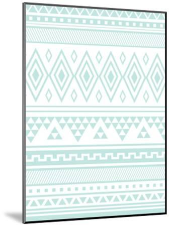 Mint Tribal-Jetty Printables-Mounted Art Print