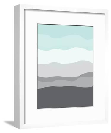 Mint Gray Abstract-Jetty Printables-Framed Art Print