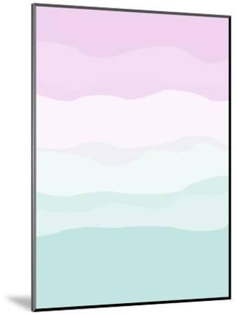 Mint Lavender Abstract-Jetty Printables-Mounted Art Print