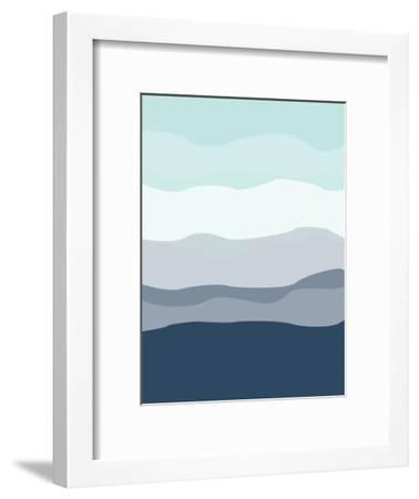 Mint Navy Abstract-Jetty Printables-Framed Art Print