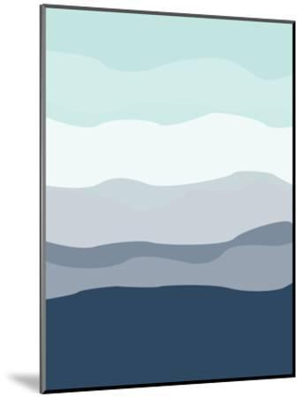 Mint Navy Abstract-Jetty Printables-Mounted Art Print