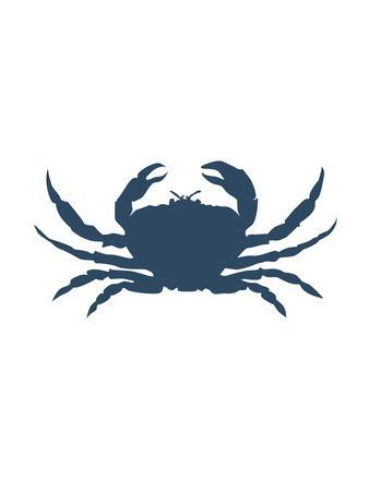 Navy Crab-Jetty Printables-Framed Art Print