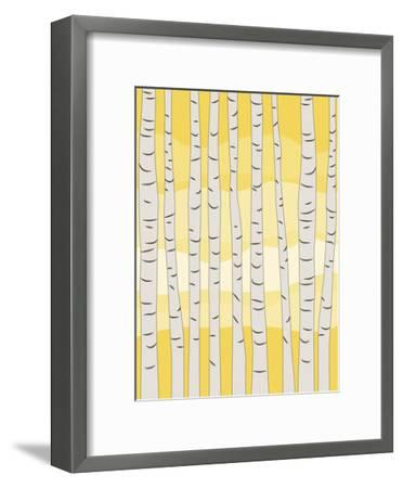 Yellow Birch Trees-Jetty Printables-Framed Art Print