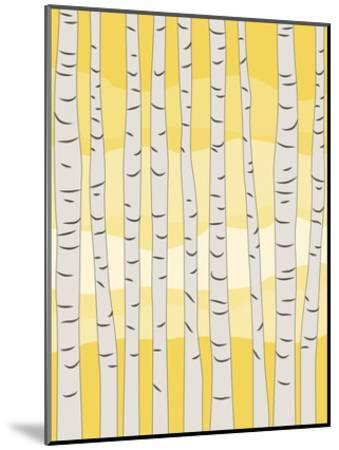 Yellow Birch Trees-Jetty Printables-Mounted Art Print
