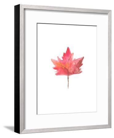 Watercolor 1 Leaf-Jetty Printables-Framed Art Print
