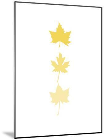Yellow Leaves-Jetty Printables-Mounted Art Print
