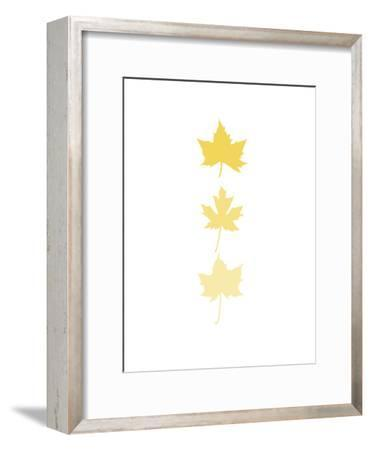 Yellow Leaves-Jetty Printables-Framed Art Print