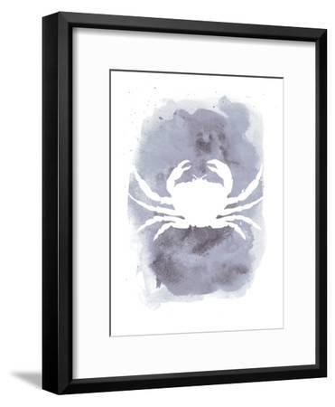 Watercolor Gray Crab-Jetty Printables-Framed Art Print