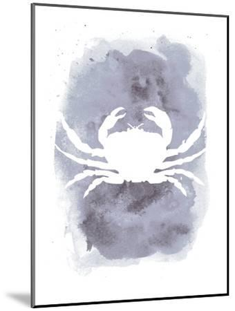 Watercolor Gray Crab-Jetty Printables-Mounted Art Print