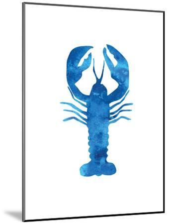 Watercolor Blue Lobster-Jetty Printables-Mounted Art Print