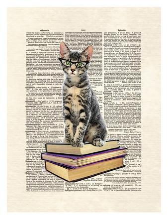 Book Cat-Matt Dinniman-Art Print
