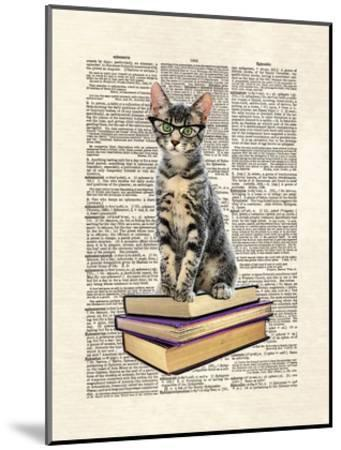 Book Cat-Matt Dinniman-Mounted Art Print