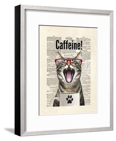 Cat Caffeine-Matt Dinniman-Framed Art Print