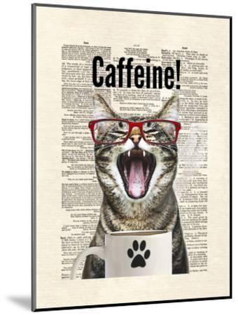 Cat Caffeine-Matt Dinniman-Mounted Art Print
