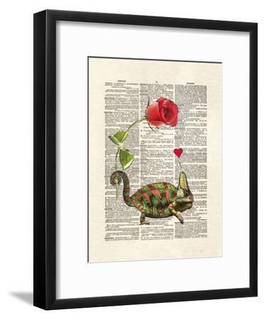 Chameleon Love-Matt Dinniman-Framed Art Print