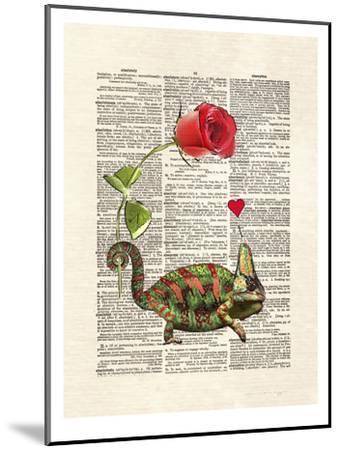 Chameleon Love-Matt Dinniman-Mounted Art Print