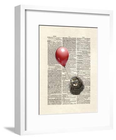 Hedgehog Aviator-Matt Dinniman-Framed Art Print