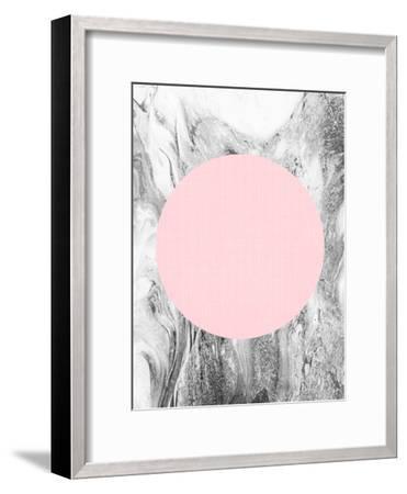 Geometric Pink Grey-LILA X LOLA-Framed Art Print