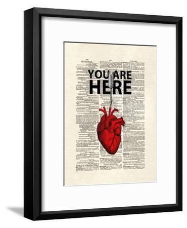 You Are Here-Matt Dinniman-Framed Art Print