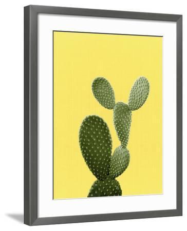 Cactus On Yellow-LILA X LOLA-Framed Art Print