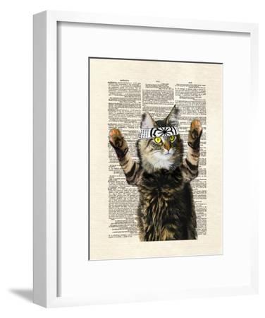 Karate Kitty-Matt Dinniman-Framed Art Print