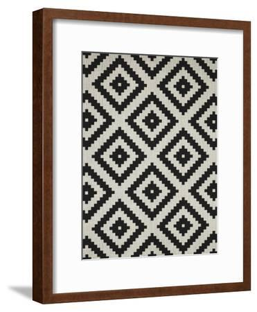 Geometric Squares-LILA X LOLA-Framed Art Print