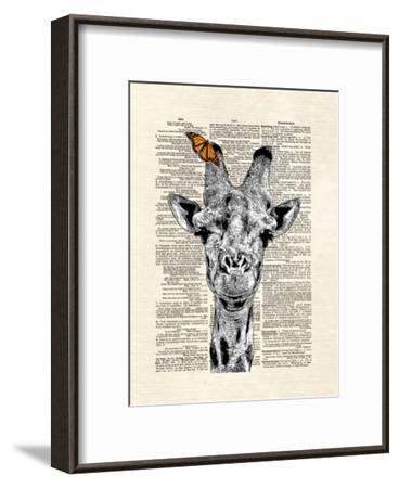 Butterfly Giraffe-Matt Dinniman-Framed Art Print
