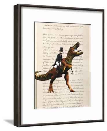 Lincoln T Rex-Matt Dinniman-Framed Art Print