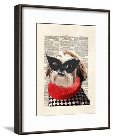 Shihtzu-Matt Dinniman-Framed Art Print