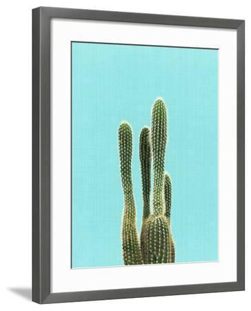 Cactus On Blue-LILA X LOLA-Framed Art Print