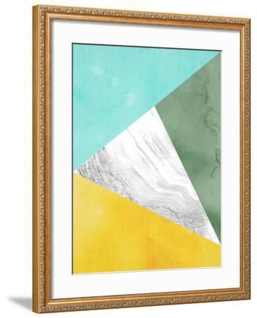 Geometric Mint Yellow-LILA X LOLA-Framed Art Print