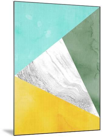 Geometric Mint Yellow-LILA X LOLA-Mounted Art Print