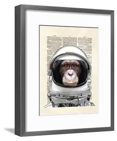 Space Chimp-Matt Dinniman-Framed Art Print