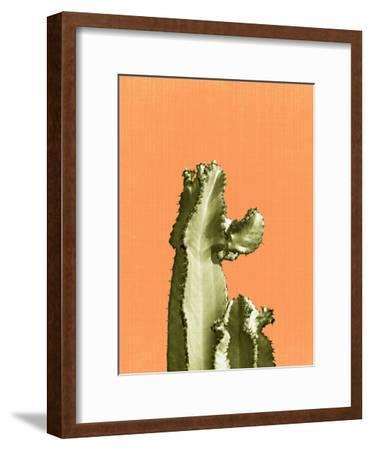 Cactus On Orange-LILA X LOLA-Framed Art Print