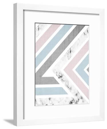 Geometric Pink Blue-LILA X LOLA-Framed Art Print
