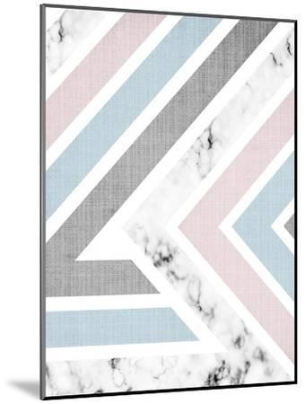Geometric Pink Blue-LILA X LOLA-Mounted Art Print