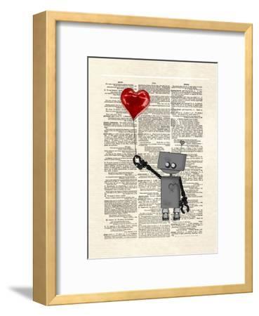 Robot Love-Matt Dinniman-Framed Art Print