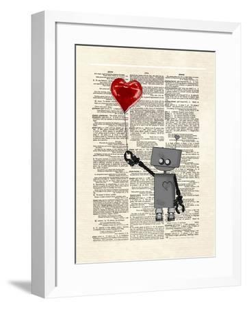 Robot Love-Matt Dinniman-Framed Art Print